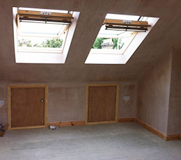 A loft conversion with Velux windows